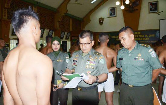 Kasdam IM Pimpin Sidang Parade CABA PK TNI AD TA  2018