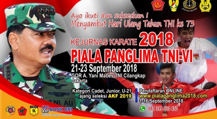 """KEJUARAAN NASIONAL KARATE PIALA PANGLIMA TNI VI"""