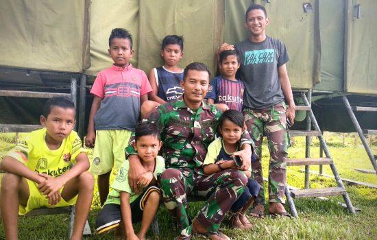 TMMD Ke 103 Kodim 0105/Abar Pengobat Trauma Anak – Anak Desa Terpencil
