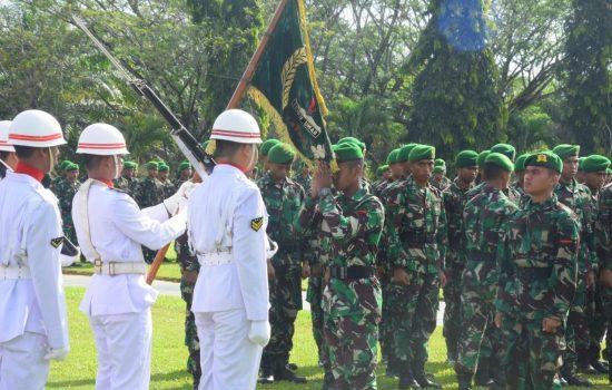 Kasrem 012/TU Pimpin  Tradisi Korps Raport Masuk dan Pindah Satuan