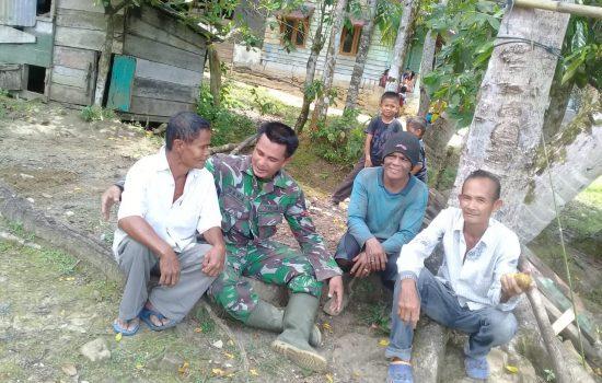 Antara TNI dan Warga Tak Ada Batasnya