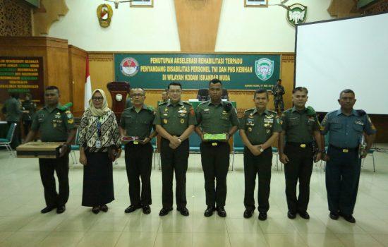 Kapusrehab Kemhan Tutup Akselerasi Rehabilitasi Terpadu di Wilayah Kodam IM