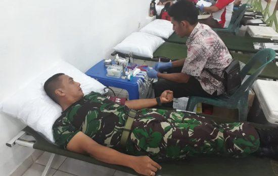 250 Prajurit Rindam IM Ikuti Donor Darah