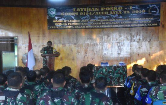 Kodim Aceh Jaya Gelar Latihan Penanggulangan Bencana Alam