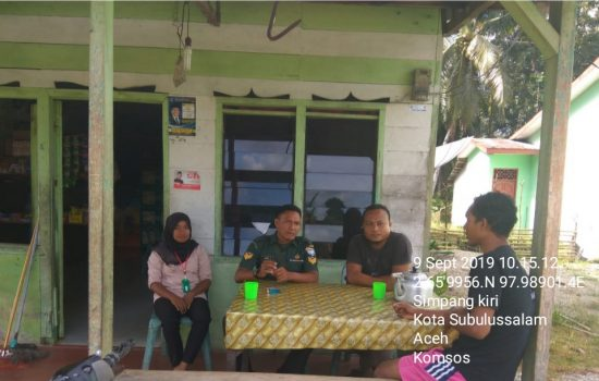 Babinsa Koramil 01/Simpang Kiri Ajak Masyarakat Jaga Kebersihan Lingkungan