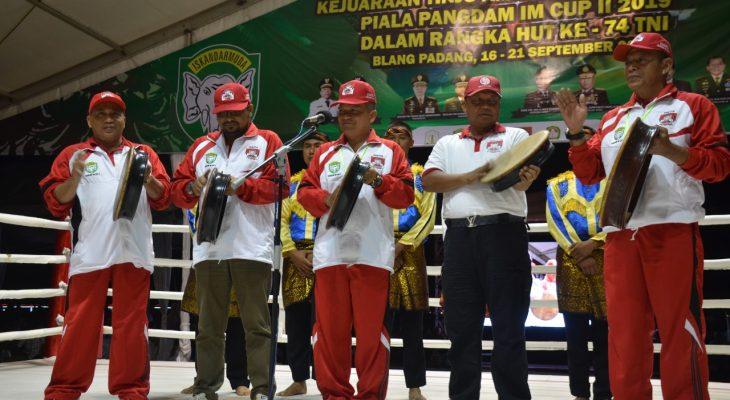 Kasdam IM Buka Kejuaraan Tinju Amatir Se-Sumatra Piala Pangdam IM CUP II Tahun 2019