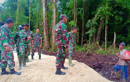 Danrem 012/Teuku Umar Tinjau TMMD di Simeulue