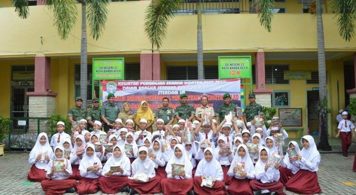 Tim Wasev Serter dari Sterad Kunjungi SD N 22 Banda Aceh