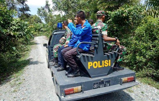 Personil TNI – Polri dan BPBD Patroli Keliling Cegah Karhutla