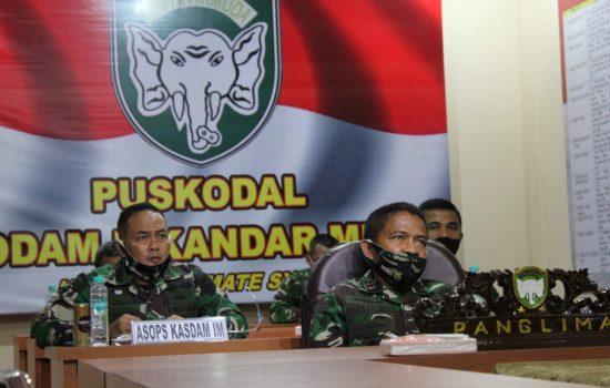 Perkembangan Covid-19 di Provinsi Aceh, Pangdam IM Vicon dengan Pangkogabwilhan I