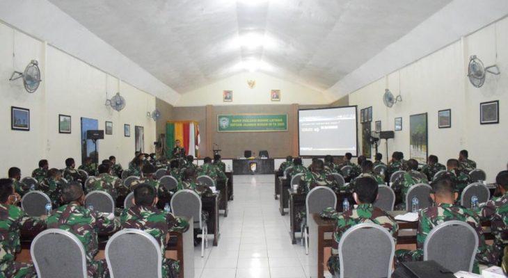 Kodam IM Lakukan Rapat Evaluasi Bidang Latihan Satuan Jajaran TA 2020