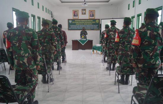 Kodim 0119 / BM Berikan Pengenalan Karakteristik Wilayah dengan Gelar Pembinaan RT/RW Pertahanan Darat