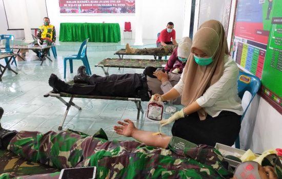Kodim 0108/Agara Donorkan 100 Kantong Darah Ke RSUD Sahudin