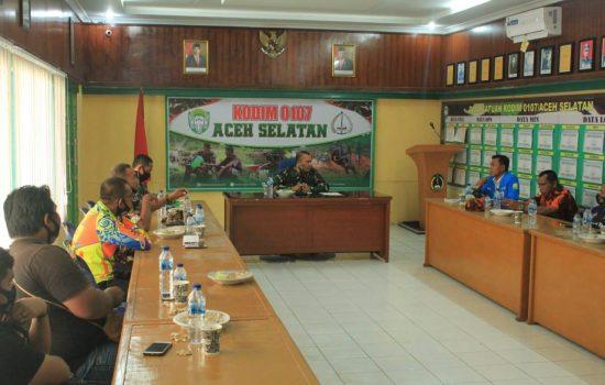 Perkokoh Sinergitas, Dandim Aceh Selatan Jalin Silaturrahmi Dengan Komponen Bangsa dan Lembaga Kemanusiaan ATC