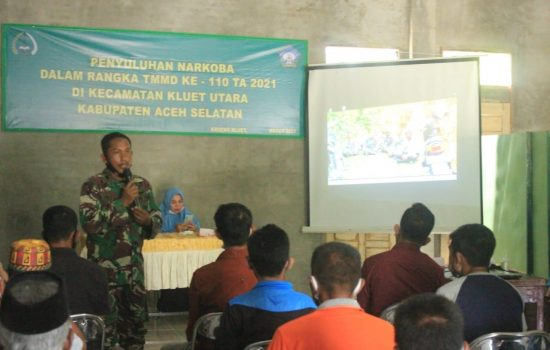 Selamatkan Generasi Muda, Satgas TMMD Kodim 0107/Aceh Selatan Sosialiasi Tentang Bahaya Narkoba